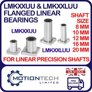 LMK8UU LUU,10UU LUU,12UU LUU,16UU LUU,20UU LUU Square Flange Linear Bearing 3D P