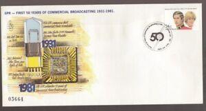 1981 Australia Perth 6PR RADIO 50yrs Commemorative Cover