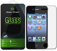 Dmax Armor for Apple iPhone 4 / 4S Tempered Glass Screen Protector Saver Shield