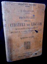 Belluomini - PRONTUARIO per CUBATURA dei LEGNAMI - Hoepli 11° 1917