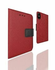 REIKO iPhone X/iPhone XS 3-IN-1 WALLET CASE IN RED