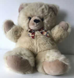 """Keel Toy Simply Soft Collection Vintage Blonde Honey Bear with Red Bear Bow 20"""""""