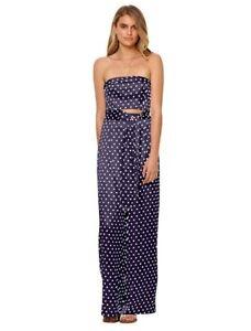 Bec Bridge Bonjour Strapless Cutout Silky Polka Dot Jumpsuit Size 12