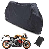 Large X-XXL Motorcycle Waterproof Outdoor Indoor Motorbike Dust Rain Cover Black