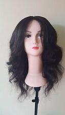 Encaje Frente Peluca de cabello humano peruano .100% Cabello Virgen Sin procesar
