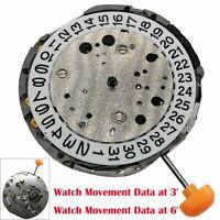 Véritable QUARTZ Watch Movement Accessories Date at 6'/ at 3' Pour MIYOTA JS25