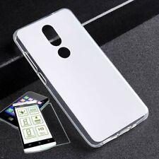 Silikoncase Transparent + 0,3 H9 Panzerglas für Wiko View Prime Tasche Hülle Neu