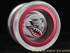 YoyoFactory Counter Attack unresponsive Pro Yo-Yo - clear/red UK seller