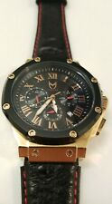 Meister Watch Am168Ob - Ambassador Rose Gold / Black / Ostrich Style Leather