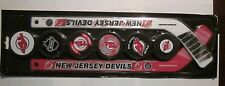 NJ Devils Mini Stick and Puck Display Set From Prudential Center VG Condition