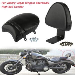 Motorcycle passenger seat rear pillion seat + backrest BACKREST for Victory GUNNER