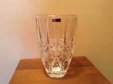 """Beautiful Never Used 9"""" Signed  Waterford Marquis Sparkle Crystal Vase"""