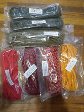 Paracord lot Type III 550 Cord Supply Captain 400 ft Khaki Blaze Orange Camo