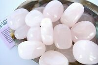 Three Pink Calcite Tumbled Stones Mexico 25mm Healing Crystals by Cisco Traders