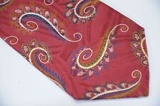 "Gorgeous Vintage Italian Silk Ornate Wild Swirl Paisley Tie Made in Canada 3.75"""