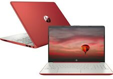 "NEW HP 15.6"" Notebook Intel Quad core N5000 2.7GHz 128GB SSD 4GB RAM Win10 Red"