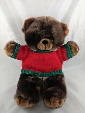 "Goffa Brown Bear Plush Christmas Knit Sweater 16"" Stuffed Animal"