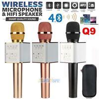Q9 Handheld KTV Microphone Wireless Bluetooth 4.0 Karaoke Mic Speaker Player USA