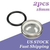2pcs 18mm Motorcycle Bike Brake Master Cylinder Reservoir Sight Glass Len