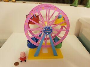 Peppa Pig Theme Park Ferris Big Wheel & Figure Set, Complete, Combine Postage