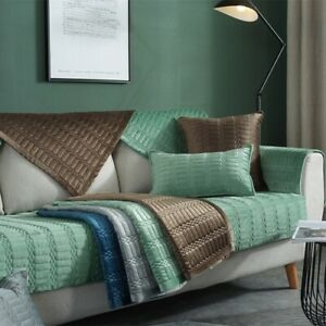 1Pc Velvet Non-slip Sofa Seat Cover Room Sofa Covers Mats Cushion Slipcovers