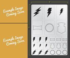 Vehicle Lightning Bolts Airbrush Stencil Terrain Vehicle Schablonen Maskierung