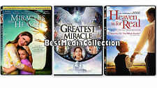 3 Pack - Miracles from Heaven, Heaven Is For Real & Heaven Is For Real DVD NEW