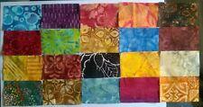 Beautiful Batik Rectangles Fabric Pack remnants patchwork bundle 100% cotton