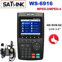 Genuine Satlink WS-6916 HD DVB-S2 High Definition Satellite Finder 3.5'' MPEG-4