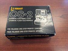Lenmar OS-2 litematic electronic flash for Polaroid SX-70 rainbow stripe cameras