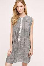 Anthropologie Marfa NICO Black & White Breezy Cotton Blend  Dress (Japan) NEW 42