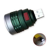 Portable USB LED Flashlight Camping Aluminum Light Mini Torch Zoomable w/3 Modes