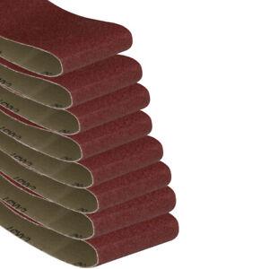 8Pcs 60-320 Grit 533x75mm 610x100mm 905x50mm 2100x50mm Sanding Belts Belt Sander
