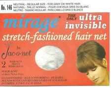 silver white thin Jac-O-Net Mirage retro very thin thin Invisible Hair Net