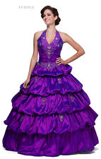 SALE ! PAGEANT BALL GOWN PROM FORMAL MASQUERADE MILITARY QUINCEANERA DRESS XS-3X