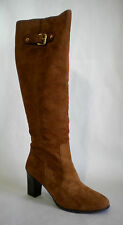 Michael Kors Burke Luggage Brown Suede Knee High Boots - SIZE 9.5