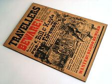Travelers Beware Bar Restaurant Sign Plaque Vintage Antique