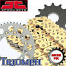 GOLD X-Ring Chain & and Sprocket Set Kit TRIUMPH 675 Daytona 06-12
