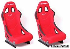 Cobra Monaco Pro Red Bucket Seats 1 PAIR FIA approved