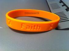 100 Orange Leukemia Awareness Silicone ADULT Bracelets Wristbands