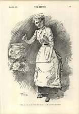 1894 Governante pulizia pesci accento tedesco scherzo cartoni animati