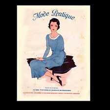 Dollshouse Miniature Newspaper - 1931 Mode Pratique - French Fashion