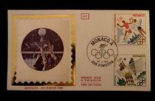 MONACO PREMIER JOUR FDC YVERT  1219+1221    HANDBALL+VOLLEY    1,30+1,80F   1980
