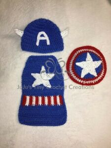 American Superhero Baby Outfit Photo Prop Halloween Costume Baby Shower Gift