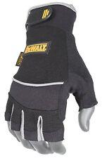 Radians DeWalt DPG230L Technicians Fingerless Synthetic Leather Gloves, Large