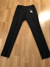 Burberry London Stirling Black Wool-Mohair Pants Trousers 50 IT 100% Authentic