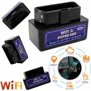 WiFi OBD Car Scanner Diagnostics Code Reader ELM327 Scan Tool For iPhone Android