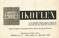 Y2268 ZEISS IKON - Ikoflex - Pubblicità del 1942 - Old advertising