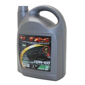 5L huile moteur 4 temps 10W60 100% synthèse Minerva Oil 4 TRS moto
