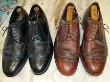 Pair of The Florsheim shoe Wingtip Mens Oxford Dress Shoes. Size 10.5 EEE